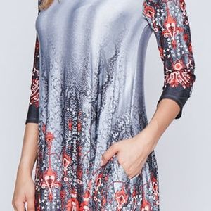 Dresses - Gorgeous tunic dress abstract design